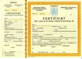 certificat calificare